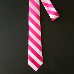 NEW! Fuchsia Stripe Skinny Tie